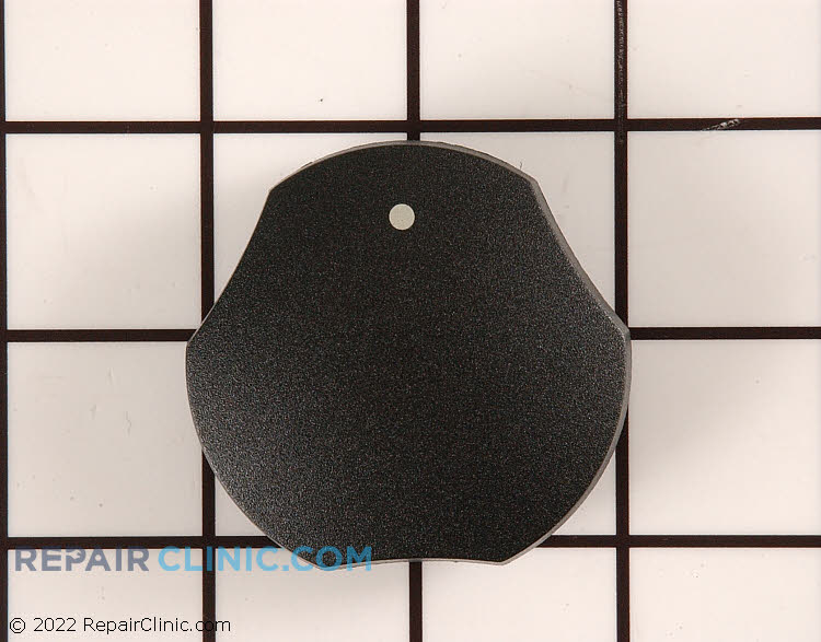 Surface burner control knob, black