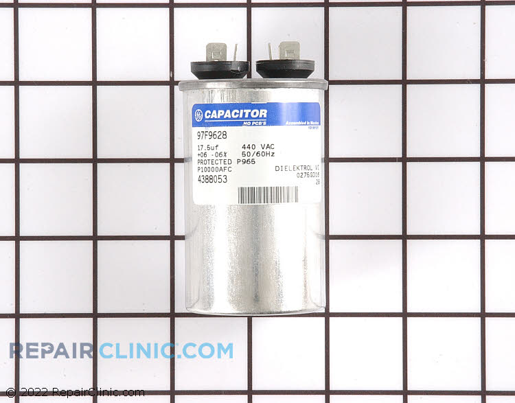 Capacitor, compressor run 17.5 mfd 440 volt