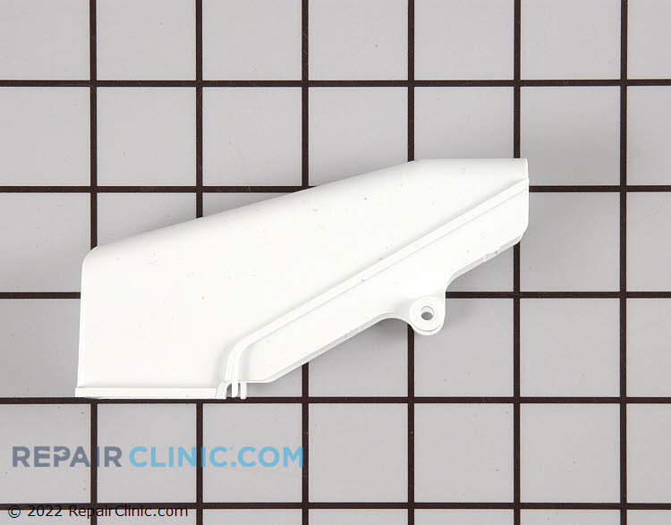 Lower hinge cover, white