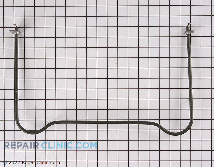 Oven bake element with push-on wire terminals