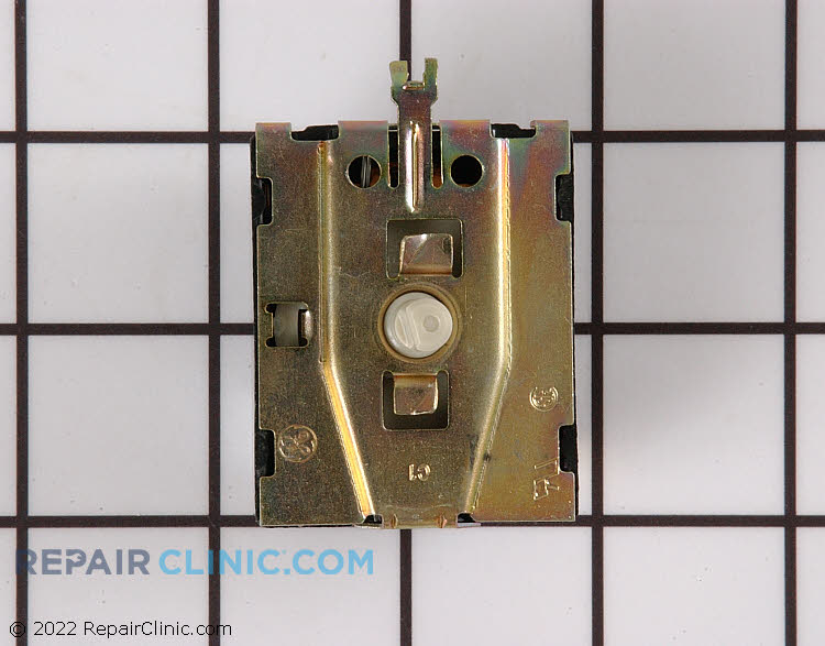 Rotary start switch. Twist to remove and lock in place