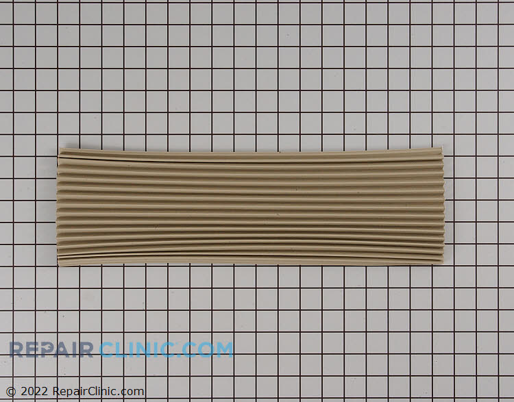 Air conditioner side curtain, cut to fit with T style mounting, 17-1/2 inches long x 13-1/2 inches wide