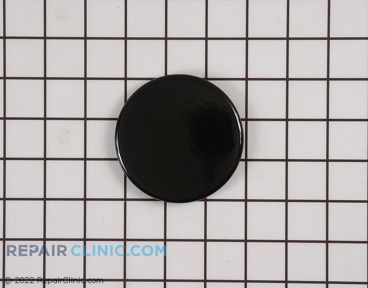 Surface burner cap, medium, black
