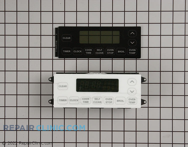 Electronic clock control kit. Includes one clock control and one touch pad, black