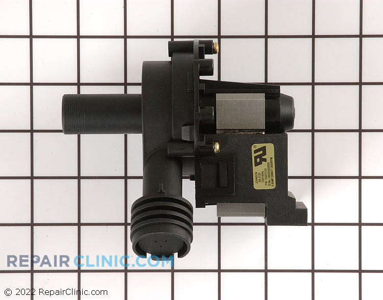 Dishwasher drain pump. If the water does not drain from the dishwasher then the drain pump may be clogged, damaged, or defective.