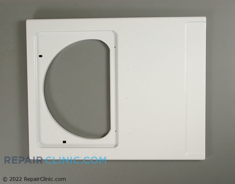 Dryer front panel