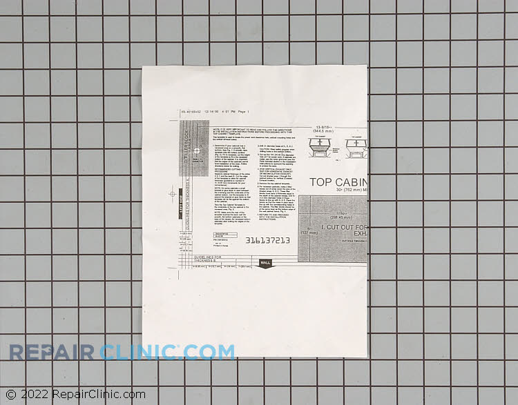 Manuals, Care Guides & Literature 316137213 Alternate Product View