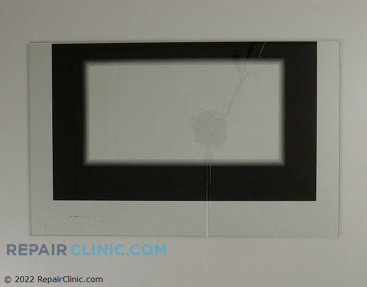 Outer oven door glass, black