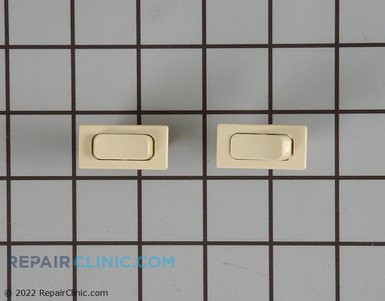 Fan and light switch kit, almond