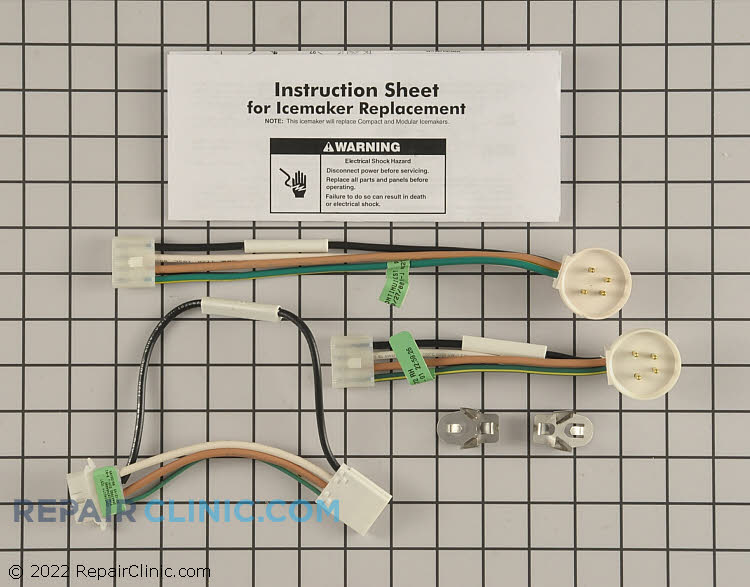 ice maker assembly 4317943 repairclinic com rh repairclinic com ice maker wiring harness maytag ice maker wiring harness thermal fuse