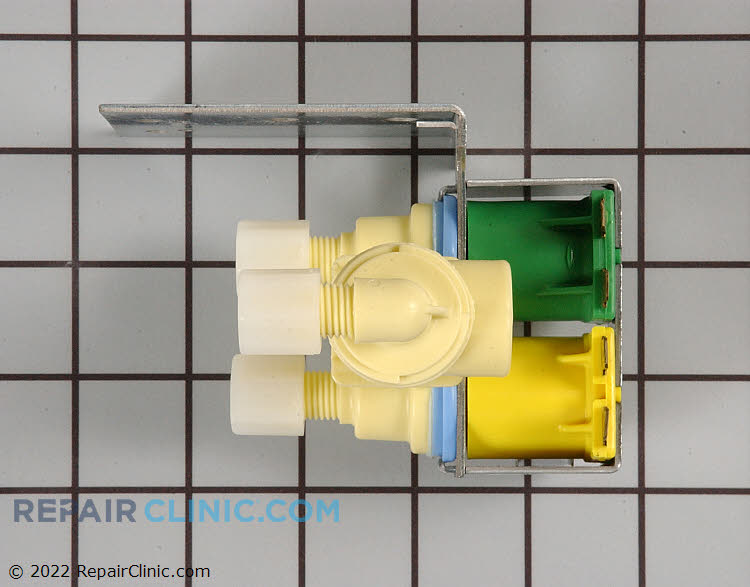 Dual water inlet valve, secondary for water filter