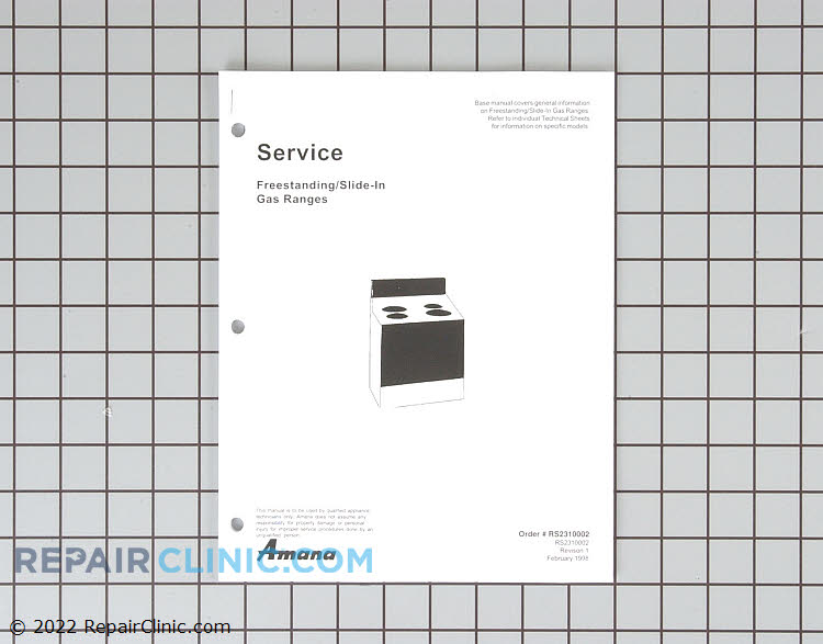 Manuals, Care Guides & Literature RS2310002 Alternate Product View