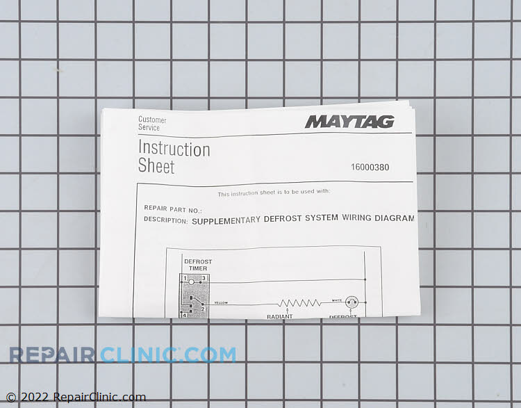 Defrost Heater Assembly 12000029 Alternate Product View
