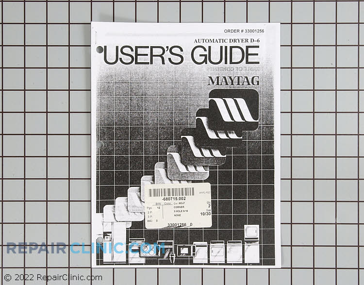 Owner's Manual 33001256        Alternate Product View