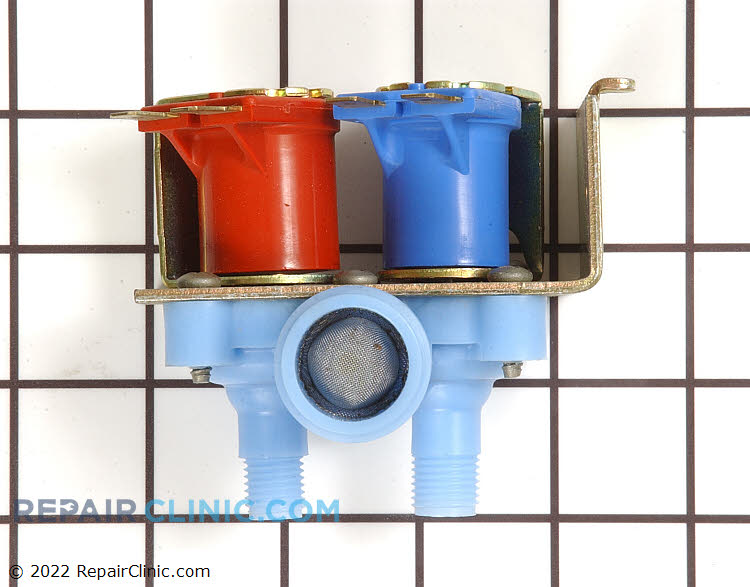 Dual water inlet valve for icemaker and water dispenser