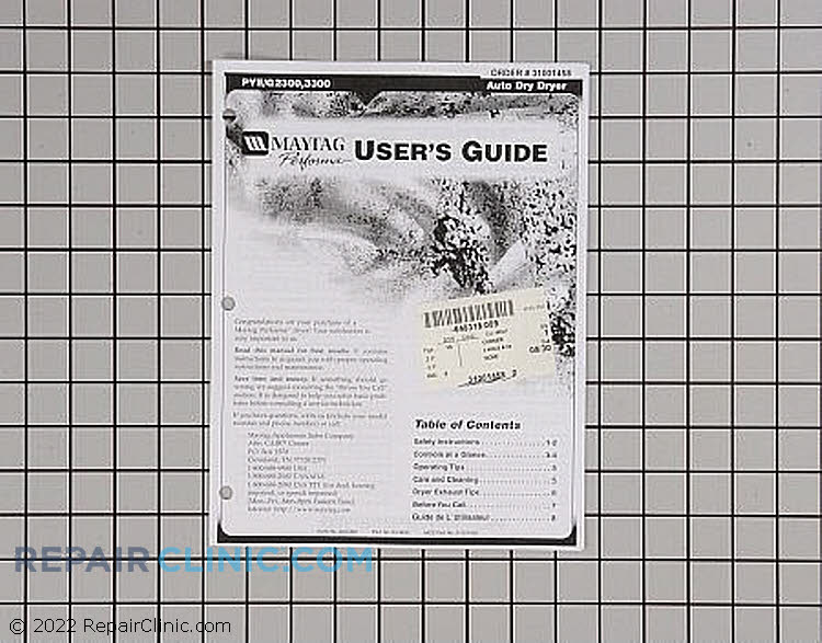 Manuals, Care Guides & Literature 31001458 Alternate Product View