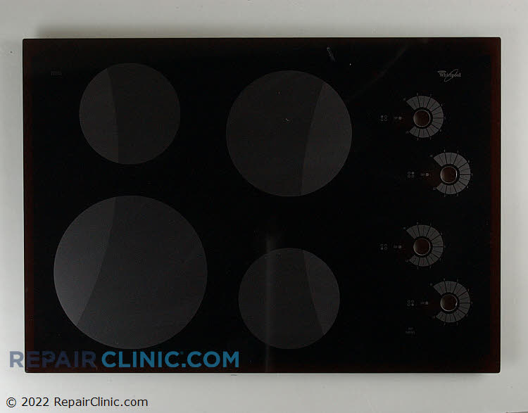 Main glass cooktop, black