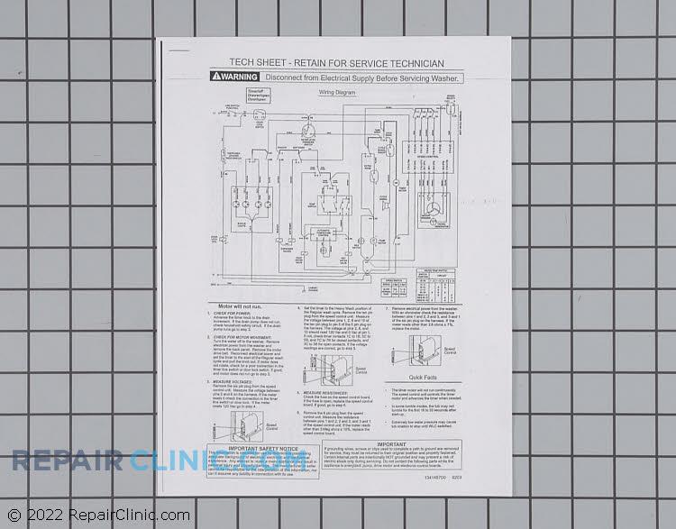 Tech Sheet 134148700 Alternate Product View