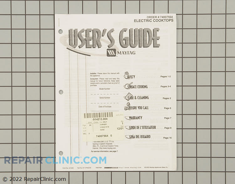 Manuals, Care Guides & Literature 74007564 Alternate Product View