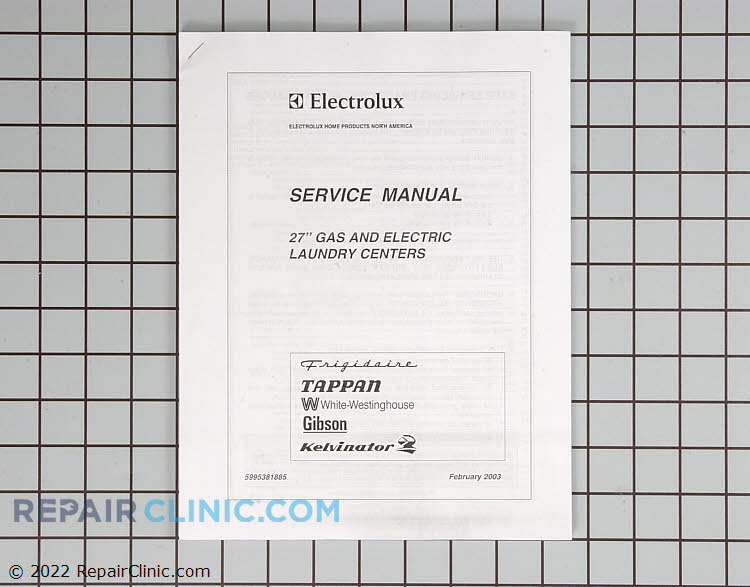 Repair Manual 5995381885 Alternate Product View