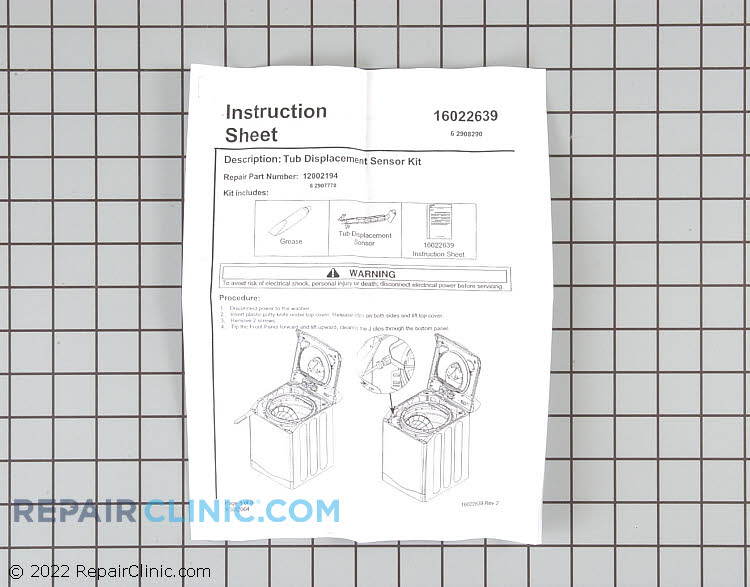 Out-of-Balance Sensor 12002194        Alternate Product View