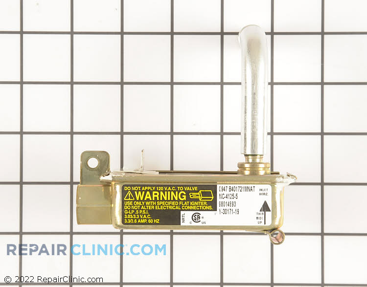 Gas oven safety valve with Natural gas orifice
