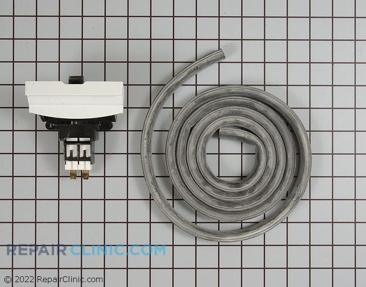 Door latch and gasket kit, white