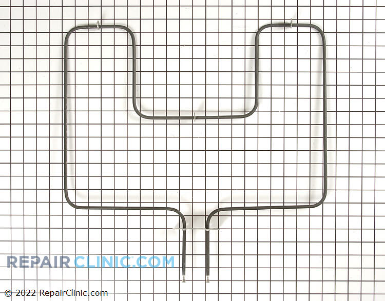 Oven bake element. The terminals are male quarter inch spade connectors. The wires push onto the heating elements connectors. If the oven does not bake then the element could have burned out.