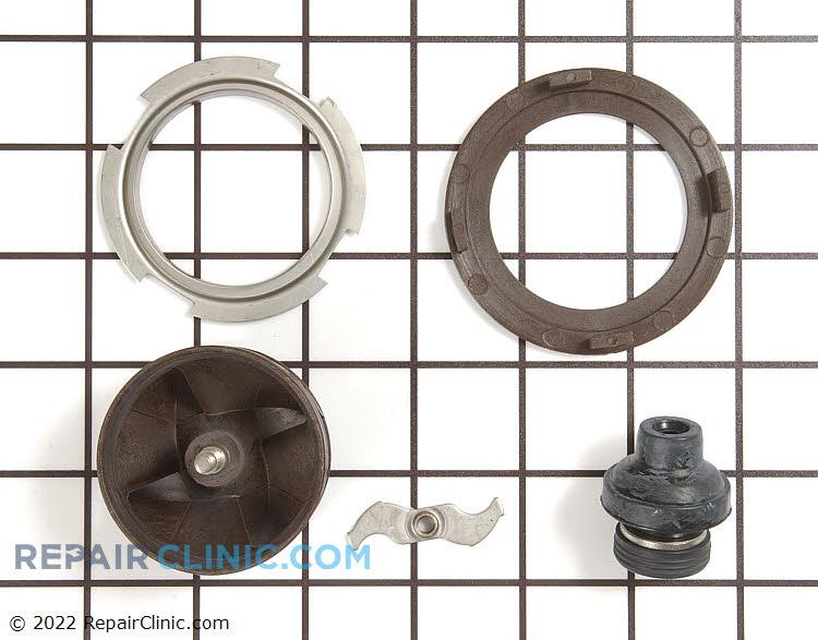 Impeller and motor shaft seal kit, circulation pump