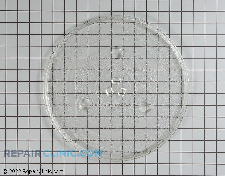 Round glass tray