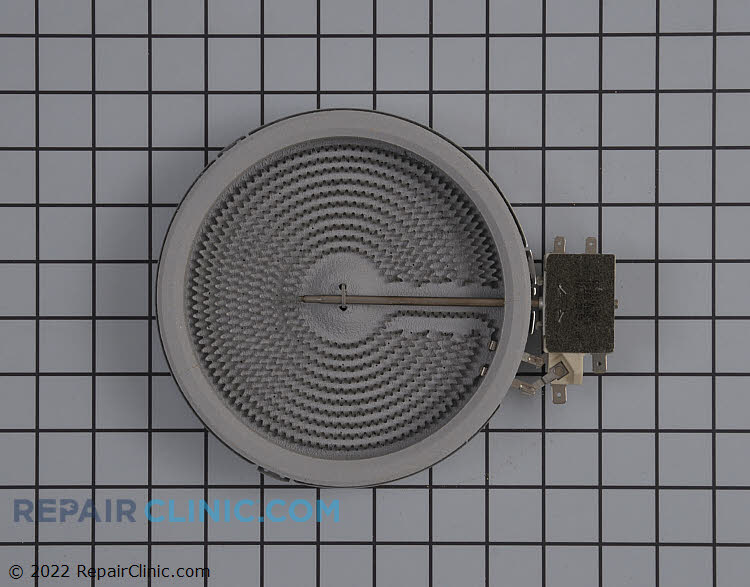 Range/stove radiant surface element for 6-inch burner. 1200 watts. If the surface element is not heating, use a multimeter to test the element for continuity. If the element has continuity, the surface element switch is likely defective.