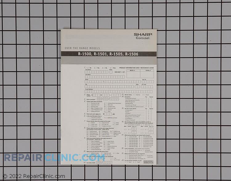 Owner's Manual TINSEB282MRK0 Alternate Product View