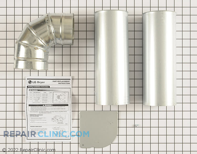 Side or bottom venting kit for LG dryers. Be aware gas models cannot vent to the right.