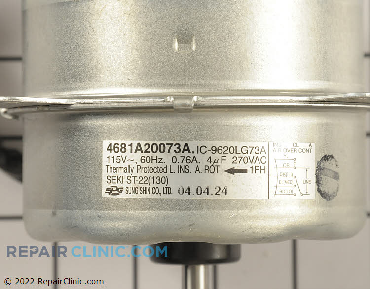 Fan Motor 4681A20073A Alternate Product View