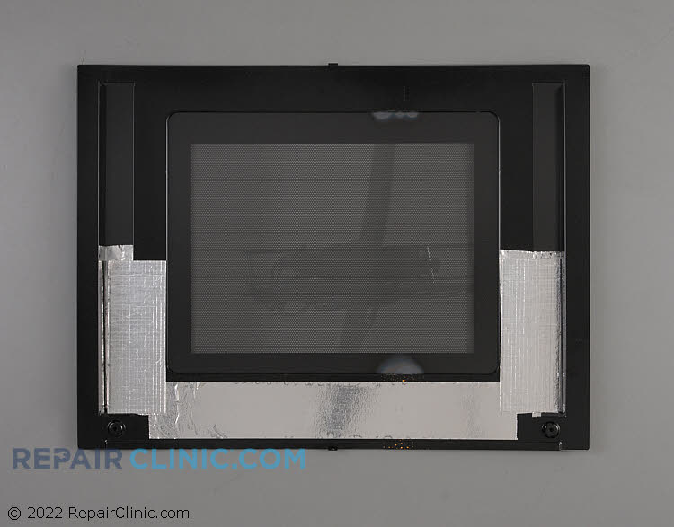 Glass assy.,upper door ,black ,outer ,w/badge 318261378       Alternate Product View
