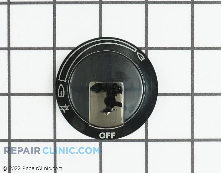 Dual burner knob, black