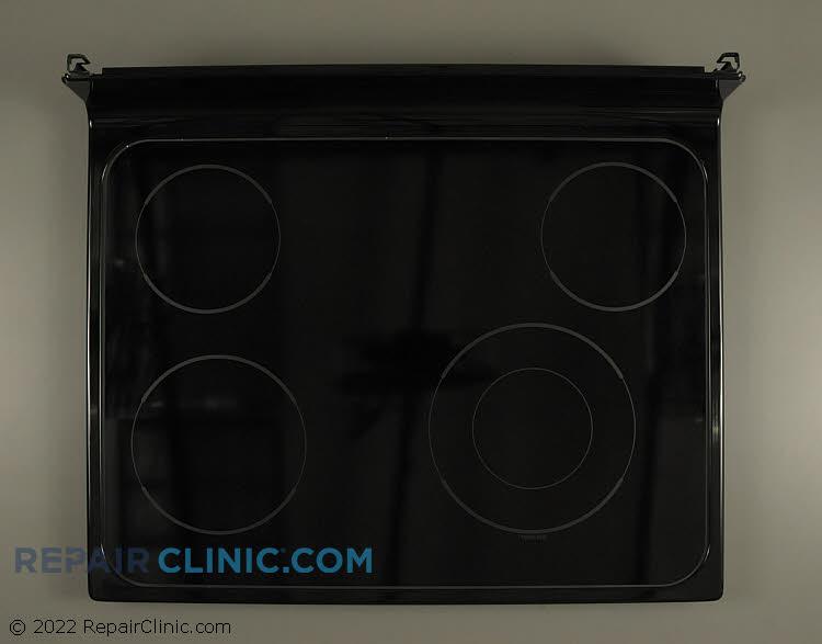 Glass cooktop, black