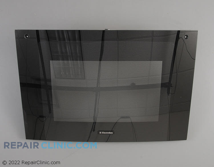 Glass assy.,oven door ,black ,outer ,w/trim & badg 318261397       Alternate Product View