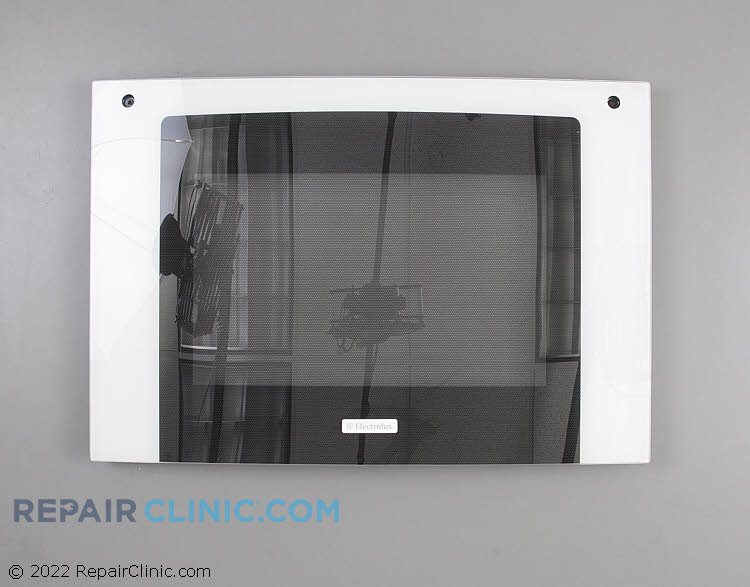 Glass assy.,oven door ,black ,outer ,w/trim & badg 318261398       Alternate Product View