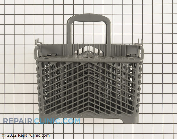Dishwasher silverware basket. This part has been updated and may different in appearance from the original part.