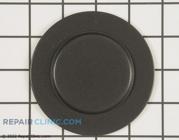 Burner cap, fits left front and right front, black