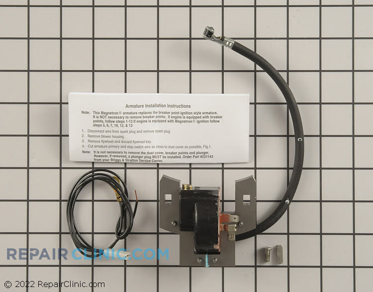 Briggs ignition coil kit to replace points & condenser. 5 HP Horizontal & Vertical Series 550