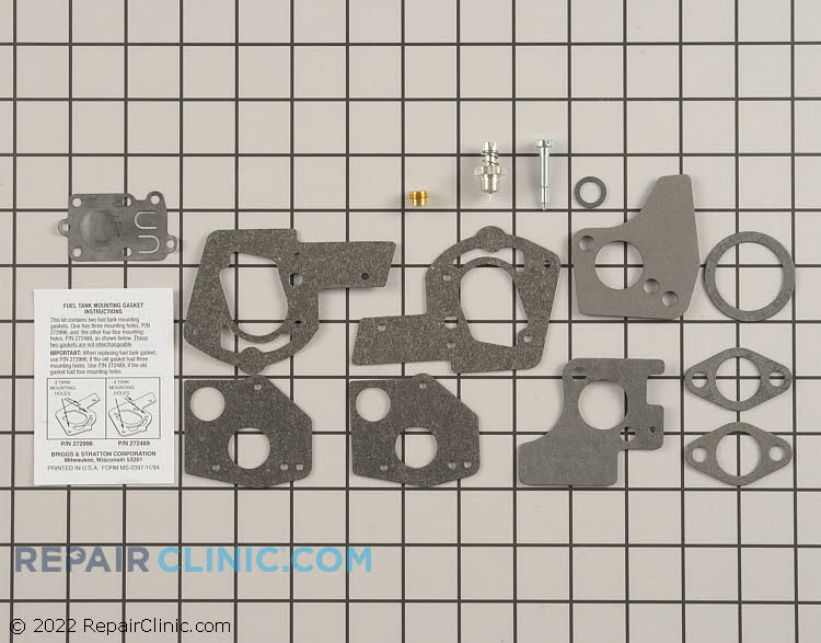 Genuine Briggs & Stratton 495606 Carburetor Rebuild Kit. If the engine is running poorly then the carburetor may be restricted and need to be cleaned and some of the internal seals and diaphragm replaced.