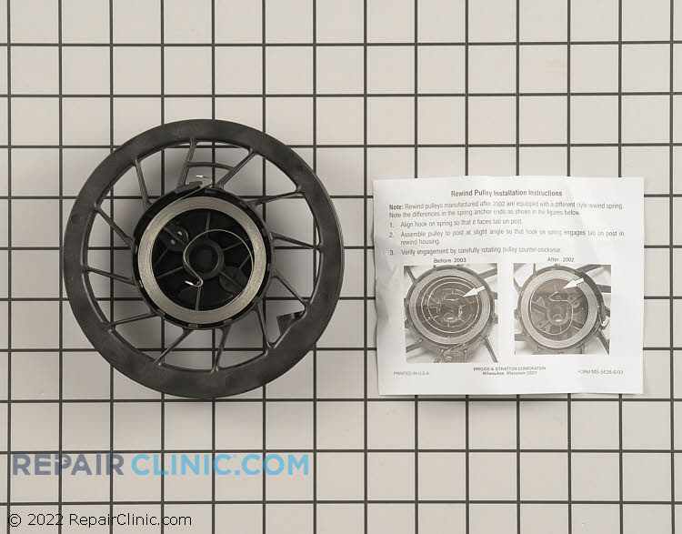 Rewind Pulley and Spring 498144          Alternate Product View