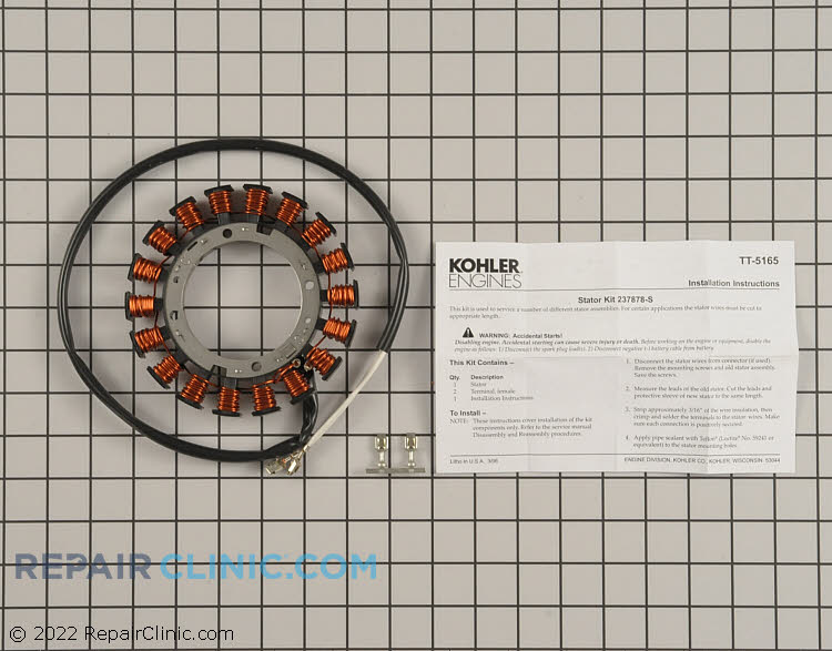Kohler Command Lawn Mower Stator Replacement #237878-S