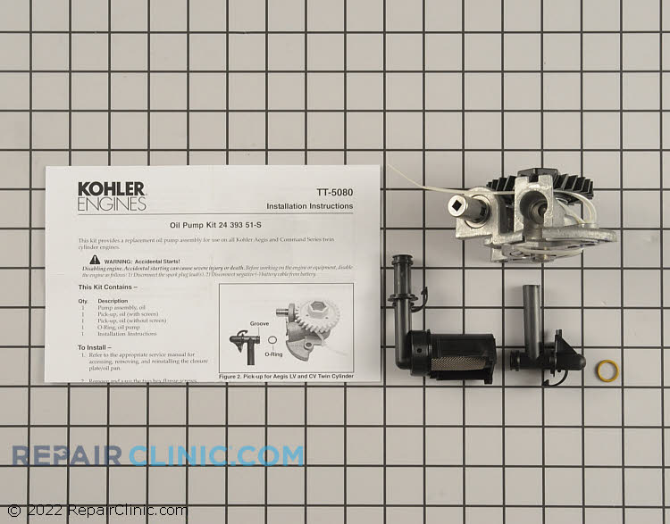 Oil Pump 24 393 53-S Alternate Product View