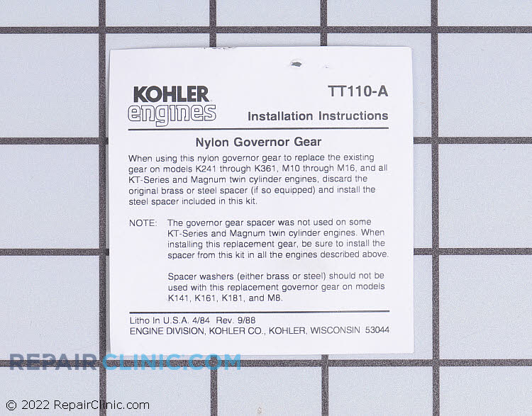 How To Replace Governor On Kohler Engine