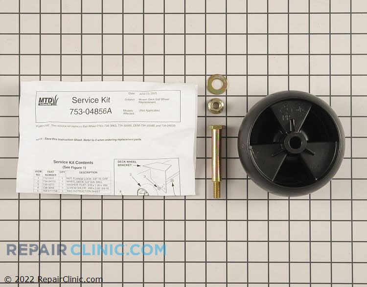 Deck Wheel 753-04856A Alternate Product View