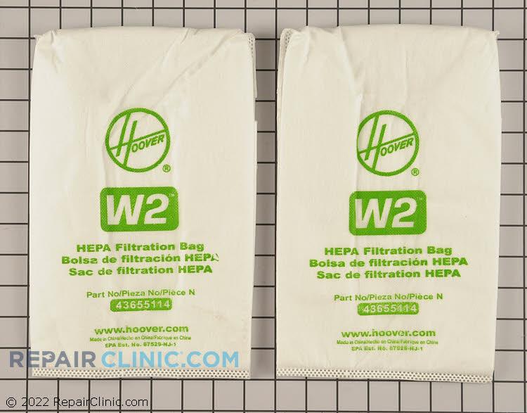 Vacuum Bag 401080W2 Alternate Product View