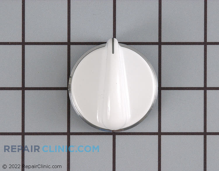 Washer/dryer selector knob, white.